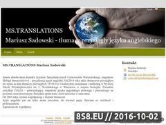 Miniaturka domeny www.mstranslations.pl