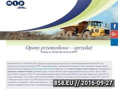 Miniaturka www.mtptyres.com.pl (MTP opony do dźwigu)