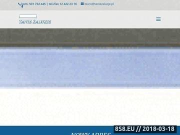 Zrzut strony Żaluzje i Rolety Kraków