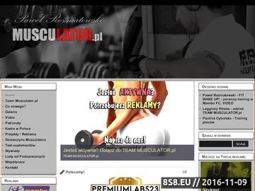 Zrzut strony Musculator - Sekrety mistrzów z Polski