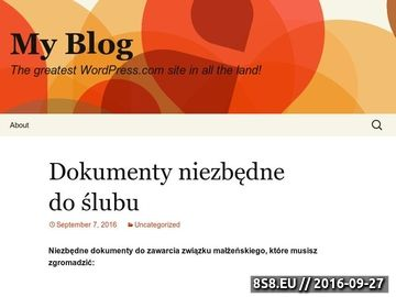 Zrzut strony Blog o organizacji wesel i imprez