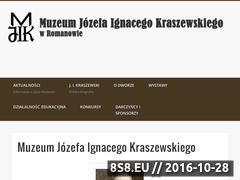 Miniaturka www.muzeumkraszewskiego.pl (Muzeum Józefa Ignacego Kraszewskiego w Romanowie)