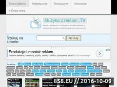 Miniaturka domeny muzykazreklam.tv