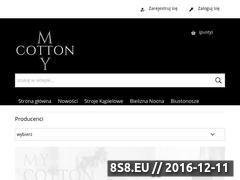 Miniaturka domeny www.mycotton.pl