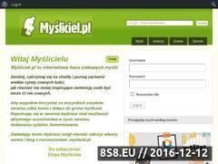 Miniaturka domeny mysliciel.pl