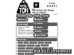 Miniaturka mysliton.pl (Rozmowy o tym oraz dlaczego niebo jest niebieskie)