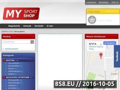Miniaturka domeny www.mysportshop.pl