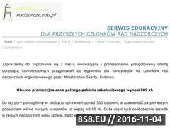 Miniaturka nadzorcze.edu.pl (Kurs i egzamin do rad nadzorczych)