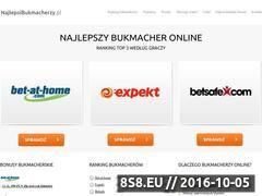 Miniaturka www.najlepsibukmacherzy.pl (Sprawdź listę najlepszych bukmacherów internetowych)