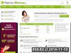 Miniaturka najtanszedomeny.pl (Rejestracja domen)
