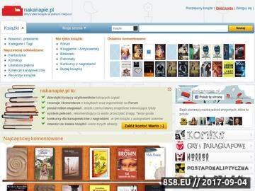 Zrzut strony Nakanapie.pl - społeczność miłośników książki
