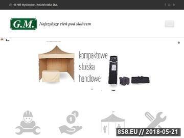 Zrzut strony Namioty reklamowe i handlowe