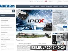 Miniaturka www.napad.pl (Systemy zabezpieczeń - alarmy, kamery i monitoring)