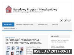 Miniaturka narodowyprogram.pl (Informator programu Mieszkanie Plus)