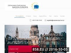 Miniaturka naszaeuropa.com.pl (Dofinansowane kursy językowe w Szczecinie)