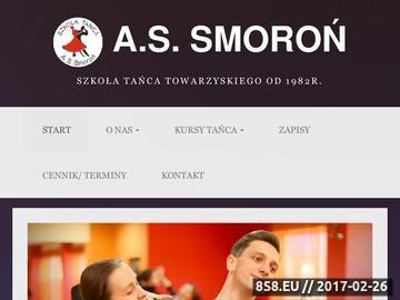 Zrzut strony Szkoła Tańca A. S. Smoroń Kraków nauka tańca taniec w Krakowie
