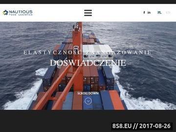 Zrzut strony Spedycja morska, transport morski