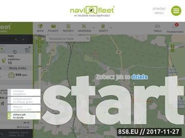 Zrzut strony Lokalizacja GPS pojazdów