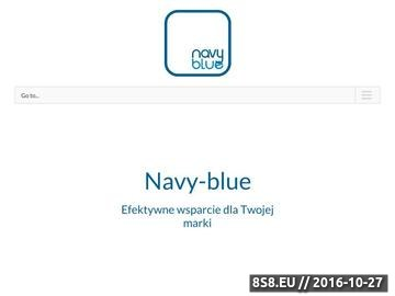 Zrzut strony Agencja marketingowa Navy Blue