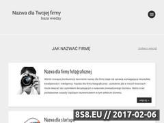 Miniaturka Baza wiedzy - tworzenie nazw (nazwadlafirmy.com)