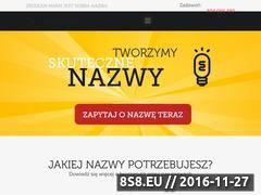 Miniaturka nazwane.pl (Tworzenie nazw dla firm)