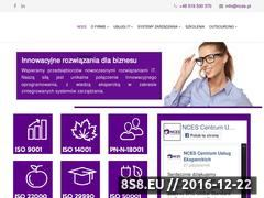 Miniaturka nces.pl (Usługi doradcze z zakresu ISO 9001)