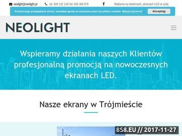Zrzut strony Ekrany LED