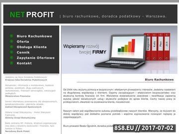 Zrzut strony Biuro Rachunkowe, Doradca Podatkowy