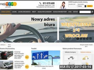 Zrzut strony Kredyty samochodowe i leasing prze internet. Net4car.pl
