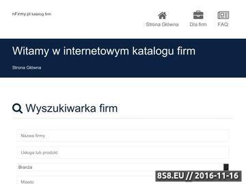Zrzut strony nFirmy.pl - katalog firm