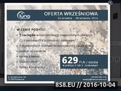 Miniaturka www.niechorzeluna.pl (Komfortowe noclegi nad morzem)