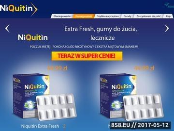 Zrzut strony Rzucanie palenia, nie pal - NiQuitin