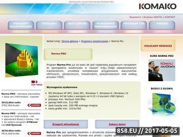 Zrzut strony Norma PRO program do kosztorysowania