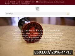 Miniaturka domeny notariusz-derkowska.pl
