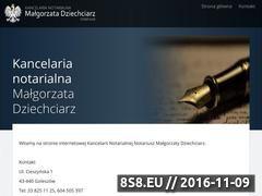 Miniaturka domeny www.notariusz-goleszow.pl