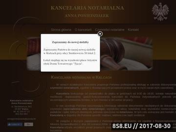 Zrzut strony Kancelaria Notarialna Notariusz Anna Poniedziałek Kielce