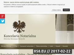 Miniaturka domeny www.notariusz-prawobrzeze.pl