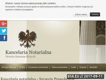 Zrzut strony Notariusz Szczecin
