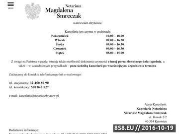 Zrzut strony Notariusz Katowice