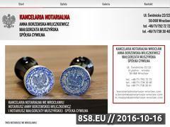Miniaturka domeny www.notariusze-wroclaw.com