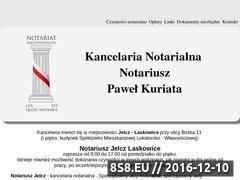 Miniaturka Informacja o usługach notarialnych (notariuszjelcz.pl)