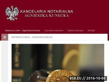 Zrzut strony Notariusz Lublin - Kancelaria Notarialna Agnieszki Kuneckiej