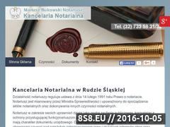 Miniaturka domeny www.notariuszrudaslaska.pl