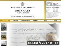 Miniaturka domeny notariuszsosnowiec.com.pl