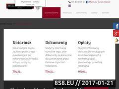 Miniaturka domeny www.notariuszstargard.pl