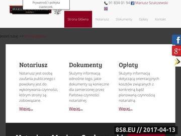 Zrzut strony Mariusz Szulczewski Notariusz w Stargardzie Szczecińskim