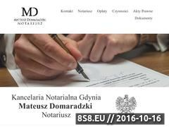 Miniaturka domeny www.notariusztrojmiasto.pl