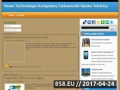 Miniaturka nowe-technologie-komputery.blogspot.com (Nowe technologie - komputery, ciekawostki, nauka i telefony)