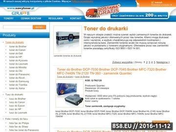 Zrzut strony Nowytoner.pl toner i kartridż do drukarki, sklep Białystok