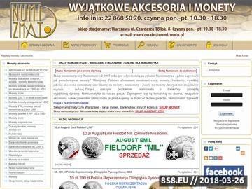 Zrzut strony Sklep numizmatyczny Numizmato - monety, kasety, inne akcesoria numizmatyczne
